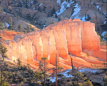 Exploring Bryce Canyon National Park, hoodoos at sunrise.