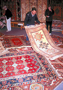 Turkish carpet buying, Turkish culture on an ElderTreks tour.