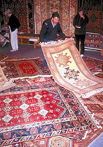 Turkish carpet buying, Turkish culture on an ElderTreks tour.