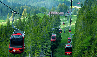 Article about Switzerland gondolas and funiculars.