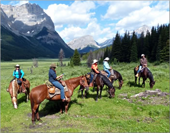 Trail Riders of the Canadian Rockies in Banff National Park wilderness.