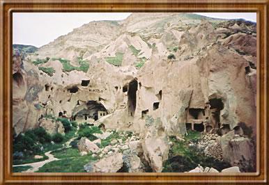 Cappadocia, Turkey's rock towns built into the volcanic rock.