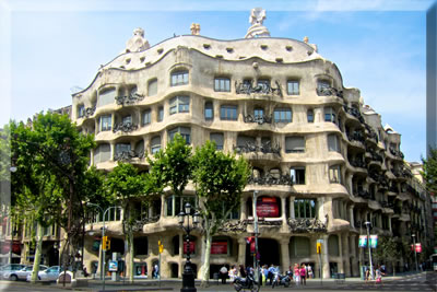 Antoni Gaudi S Casa Mila Apartment Building Barcelona Spain