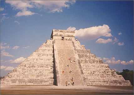 The archaeological site of Chichen Itza is on Mexico's Yucatan Peninsula.