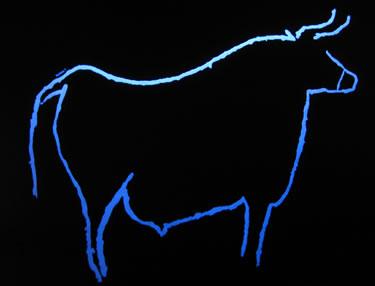 A museum replica of a prehistoric auroch,