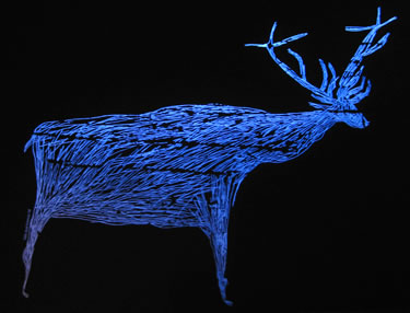Rock art rendering of a prehistoric deer that once populated Portugal's Coa Valley.