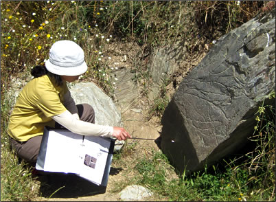 Open air field tour of Ice Age rock art Portugal.