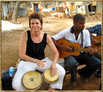 Playing bongos on trip to Cuba: sabbatical travel tips for seniors.