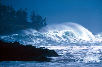 Storm waves on the West Coast of Canada