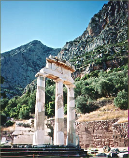Delphi, Greece is a spiritual travel center for wellness vacations.