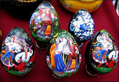 Decorated eggs, painted Easter eggs, Ukrainian eggs, Ukrainian Easter eggs.