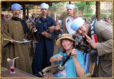 Playing music with Egyptian band: sabbatical travel tips for seniors.