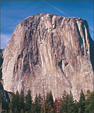 El Capitan rock in Yosemite National Park in California.