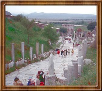 Roman road in Ephesus