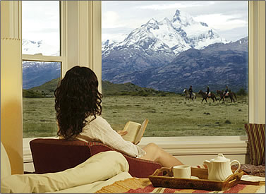 Estancia Cristina in Los Glaciares National Park, Patagonia.