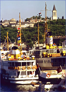 Istanbul ferries on The Bosphorus, Turkish tourism with Peter Sommer Travels.