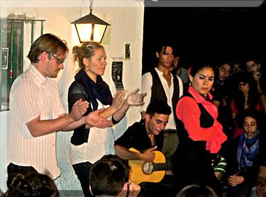 Impromptu flamenco concert on street in Sevilla, Spain.