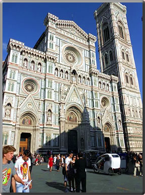 Duomo, Florence, Italy: solo travel safety tips, senior women travel alone.