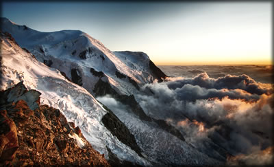 Wilderness photography: glaciers at Chamonix, France.
