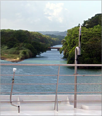 Remnants of French Panama Canal, abandoned in late 1880s.