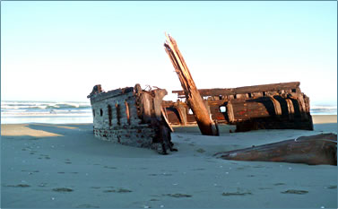 Oregon Coast shipwreck discovery, beachcombing.
