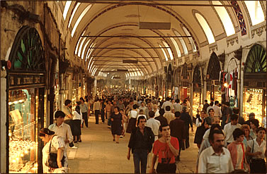 The Grand Bazaar, Istanbul, Turkey, historic and cultural tourism.