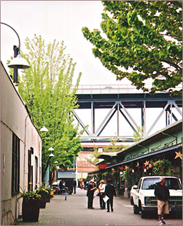 Granville Island streets are among Vancouver's most visitor-friendly attractions.