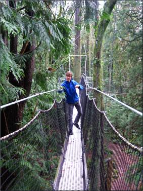 Greenheart Canopy Walkway at University of British Columbia, Vancouver.