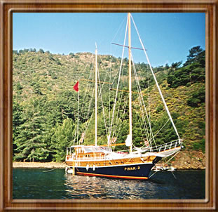 Turkish sailing ship called a gulet.