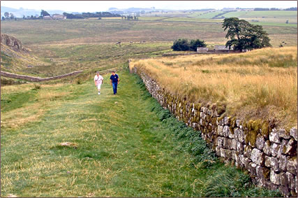Hadrian's Wall RV camping in Britain for senior travelers.
