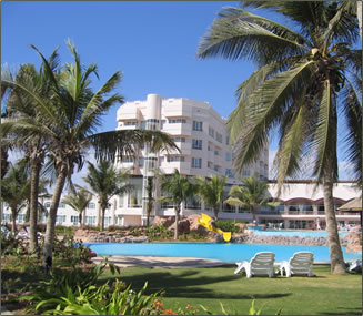 Oman tourism accommodations, hostels to five star, Crowne Plaza Resort Salalah.