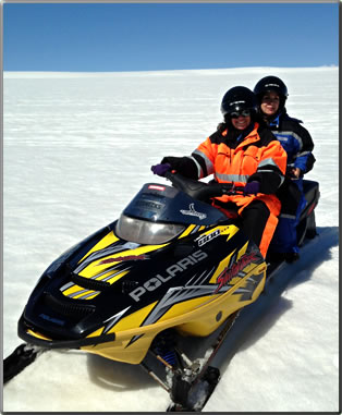 Ski-doo riding in Iceland as part of Travel Tips for a Revolutionary Retirement.