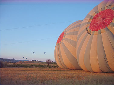 Alison Gardner describes her first ballooning ride over the dramatic Cappadocia scenery of Turkey.