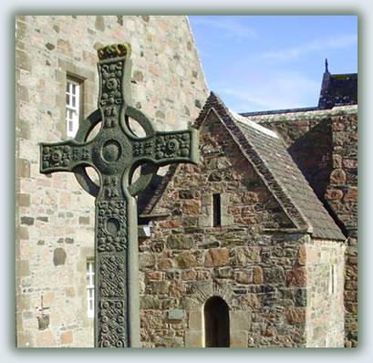 Travel to Christian pilgrimage sites, Iona Abbey, Scotland.