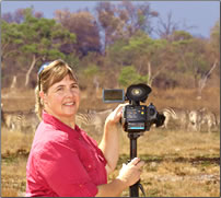 Videographer and African safari leader, Janice Davis, Take1Productions.