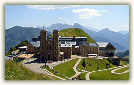 Travel to Christian pilgrimage sites, La Salette, France.