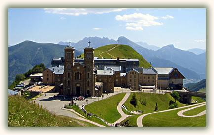 Travel to Christian pilgrimage sites, La Salette, France.