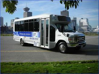 Landsea Tours & Adventures tour bus, Vancouver, BC.