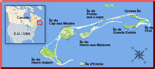 Magdalen Islands Map Quebec Iles De La Madeleine Maps | Travel with a Challenge