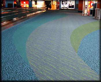 Vancouver International Airport carpet design.