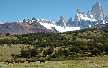 Hiking and riding vacations in Chile and Argentina, Patagonia.