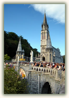 Travel to Christian pilgrimage sites, Lourdes, France.