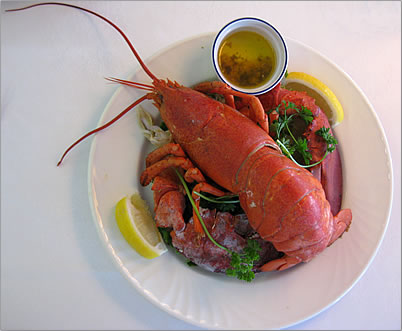 Lobster is a rich and delicious cuisine experience on Les Iles de la Madeleine, the Magdalen Islands.