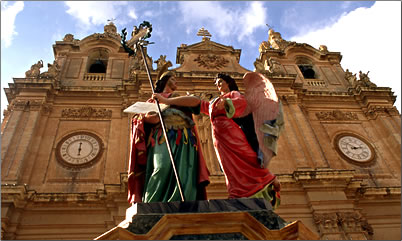 Malta is 10th smallest country in the world, heritage church and festa.