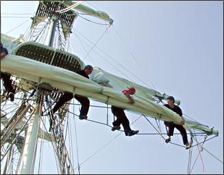 Senior travel vacations, Sail training for seniors, ship-based adventures, educational sail training, Tall Ship Races.