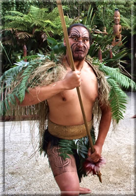 Maori warrior: Rotorua, New Zealand: Maori Culture and Wellness Holidays.