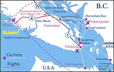 Map of southern Vancouver Island.