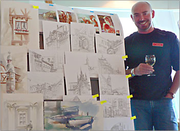Painting and sketching on your travels and tours with Mark Heine enhances international travel.