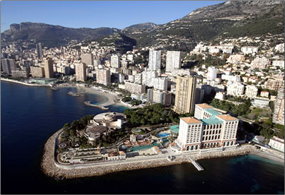 Monaco is 2nd smallest country in the world, aerial view.