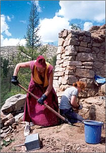 Restoration of Buddhist temple in Mongolia is a volunteer vacation.